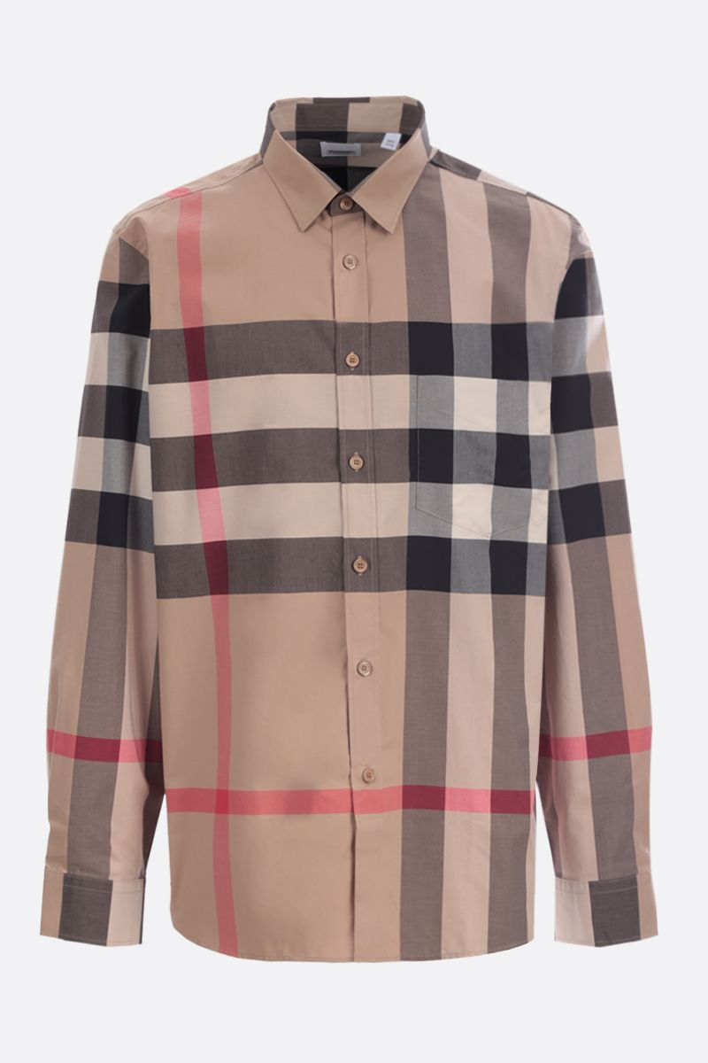 BURBERRY: Somerton stretch cotton shirt_1