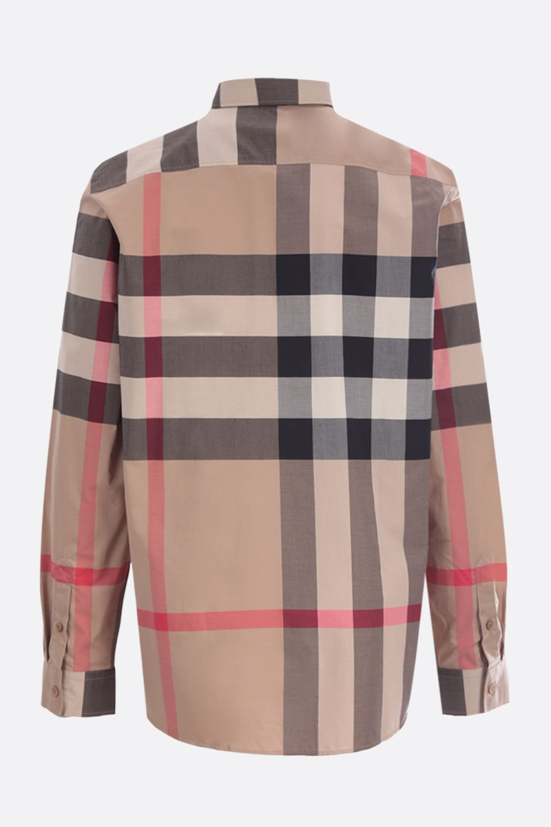 BURBERRY: Somerton stretch cotton shirt_2