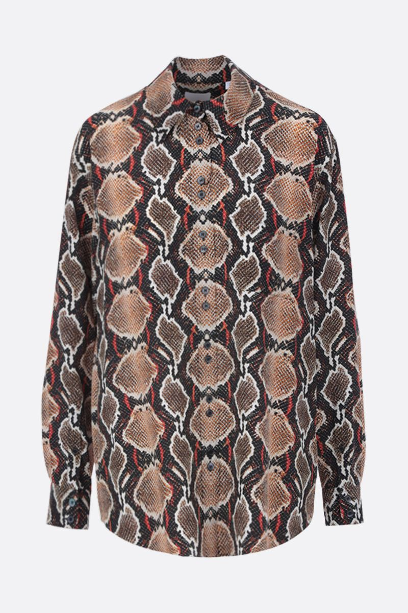 BURBERRY: python print silk shirt Color Neutral