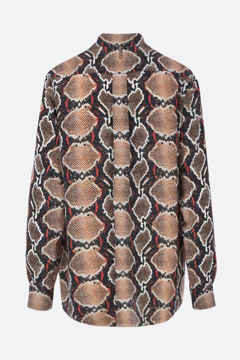 BURBERRY: python print silk shirt Color Neutral_3