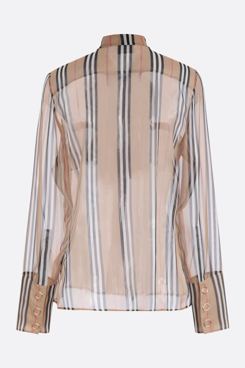 BURBERRY: Amelie silk shirt Color Brown_2