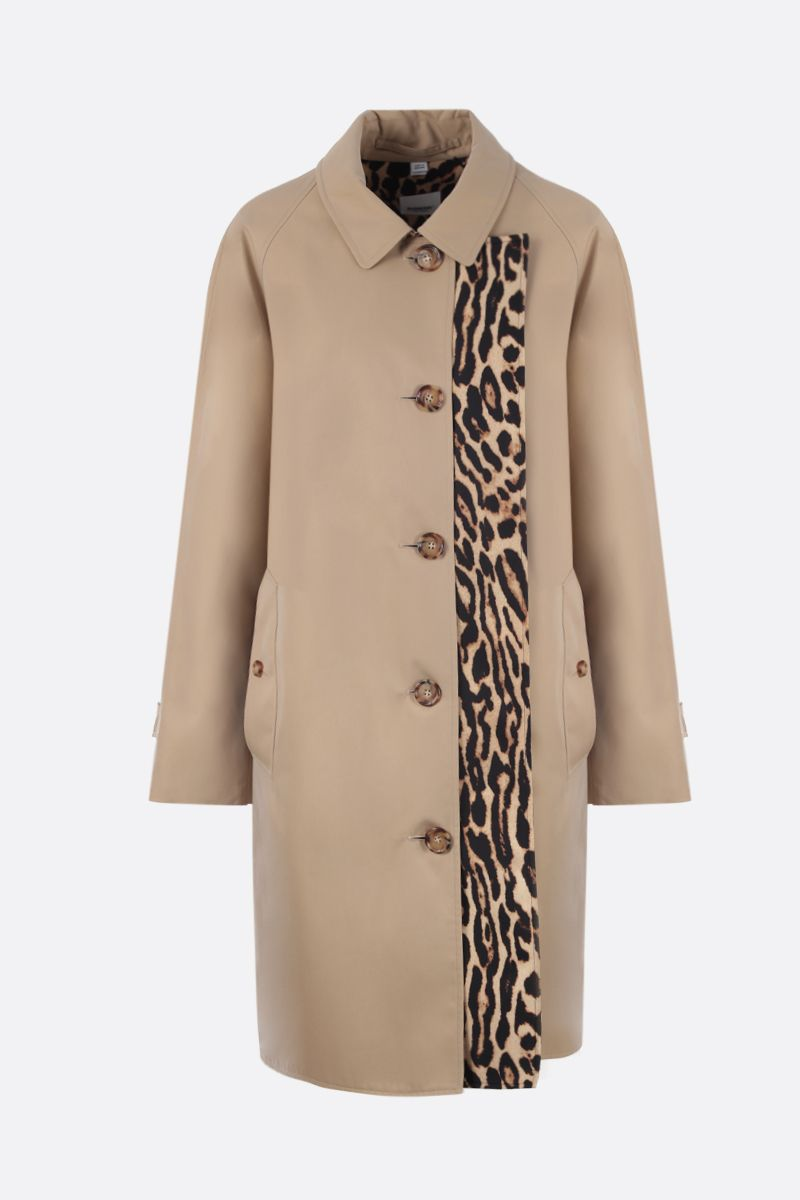 BURBERRY: Terstone car coat in gabardine Color Yellow_1