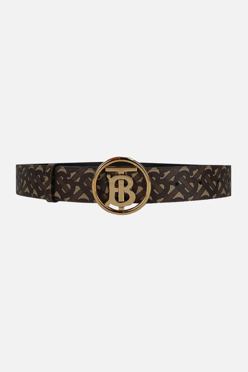BURBERRY: TB Monogram coated canvas belt_1