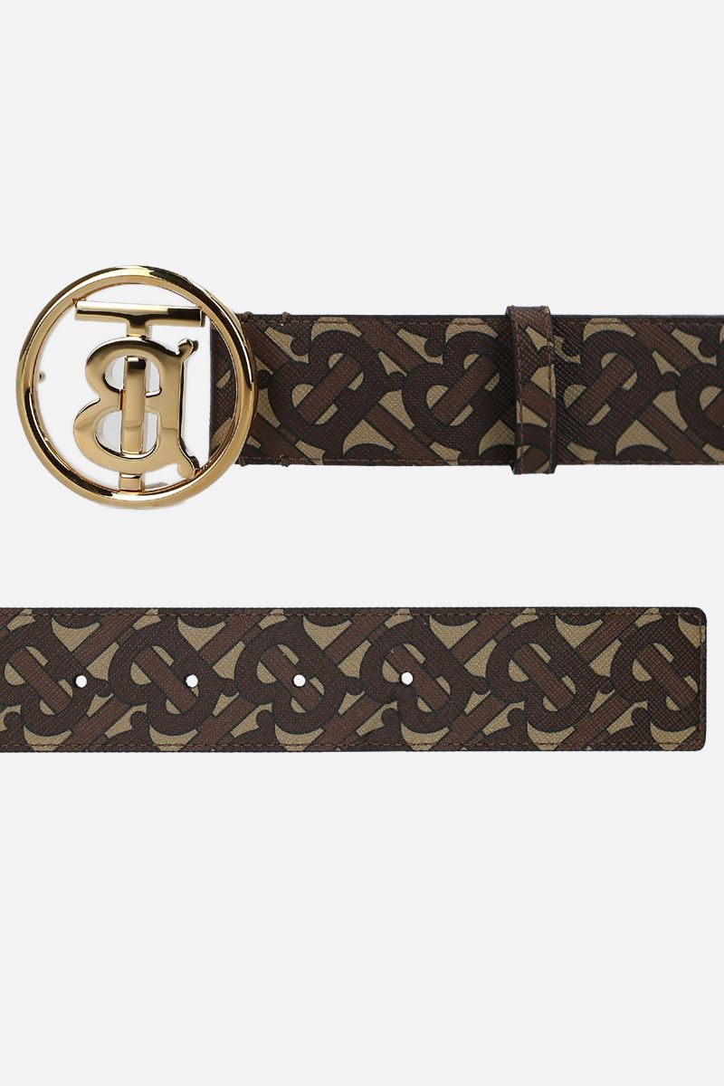 BURBERRY: TB Monogram coated canvas belt_2