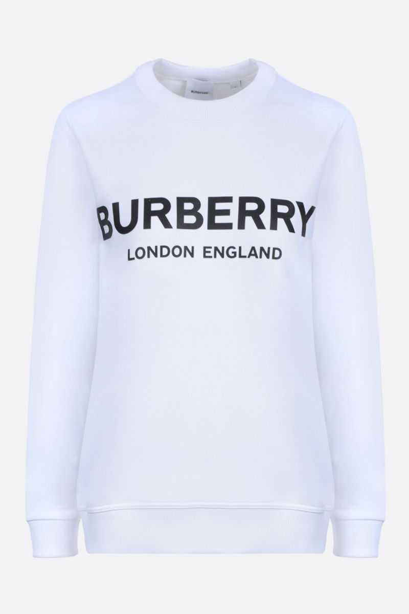 BURBERRY: Fairhall cotton sweatshirt Color White_1