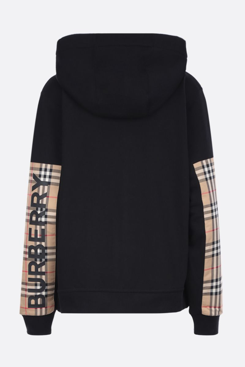 BURBERRY: Aubree cotton full-zip oversized hoodie Color Black_2