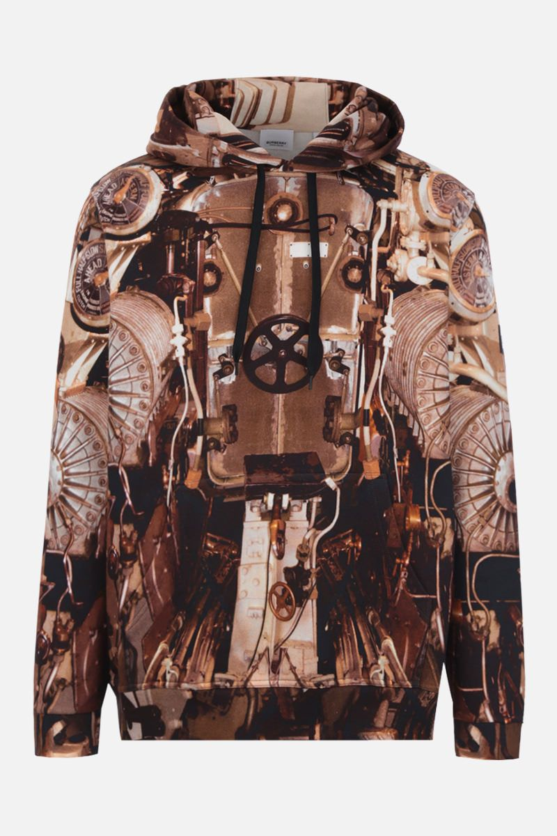 BURBERRY: submarine print cotton hoodie Color Gold_1