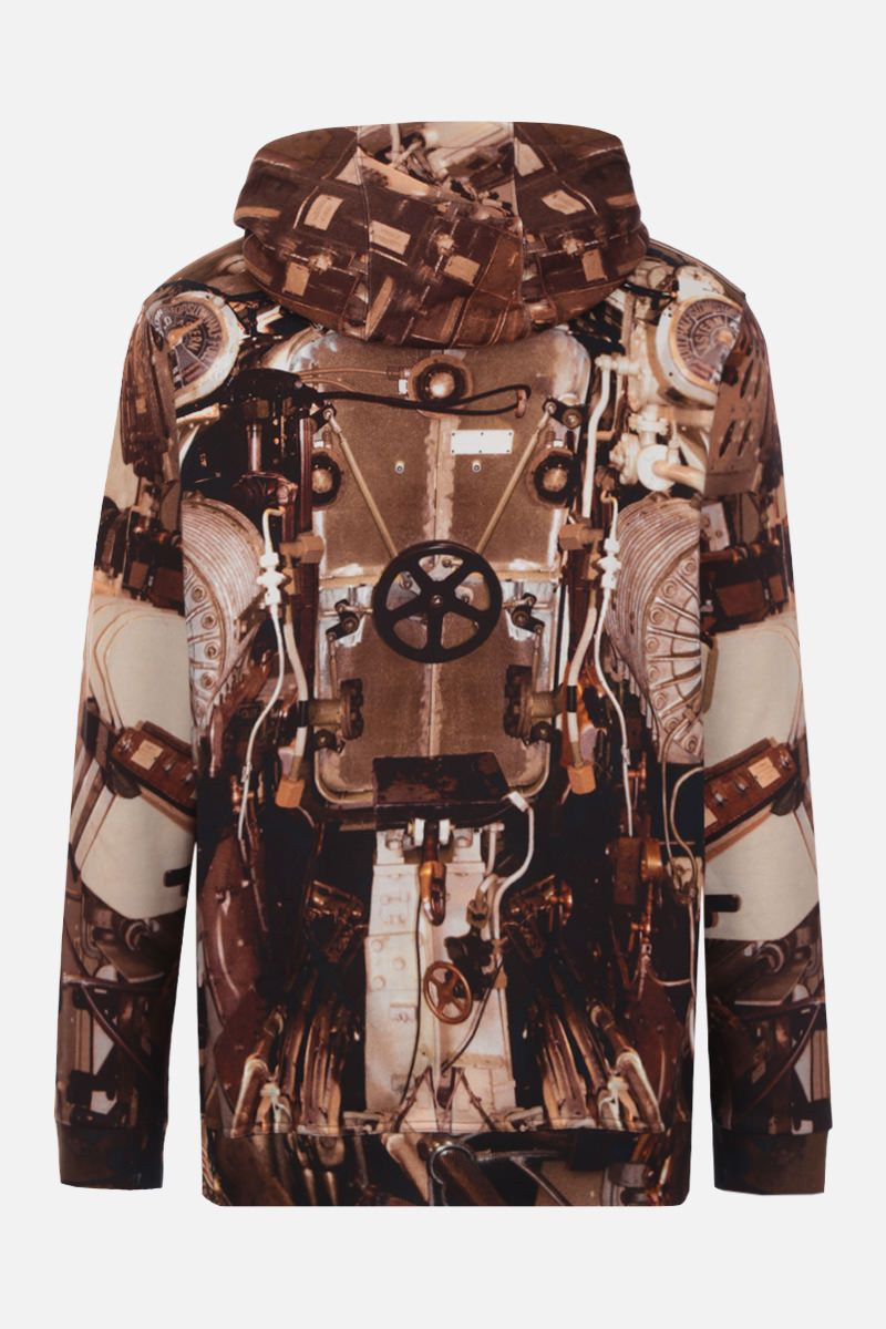 BURBERRY: submarine print cotton hoodie Color Gold_2