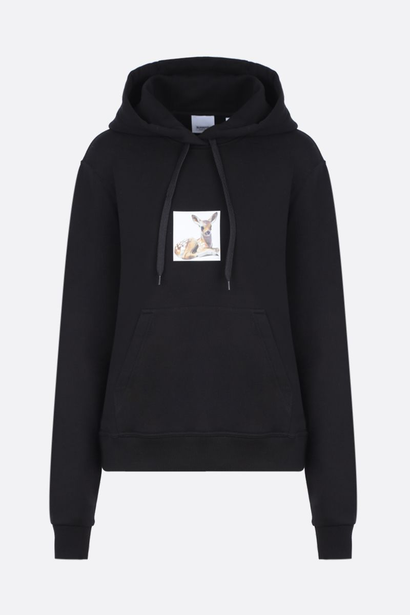 BURBERRY: Junnes cotton oversized hoodie Color Black_1