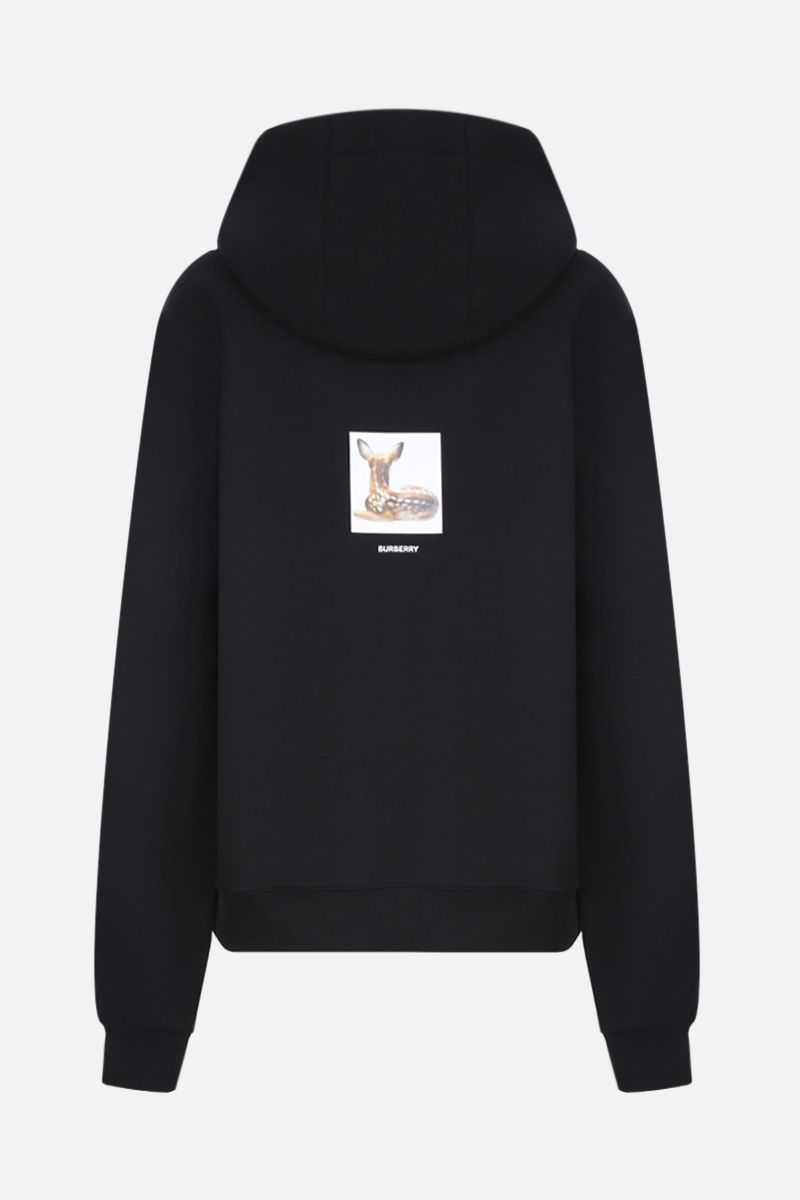 BURBERRY: Junnes cotton oversized hoodie Color Black_2