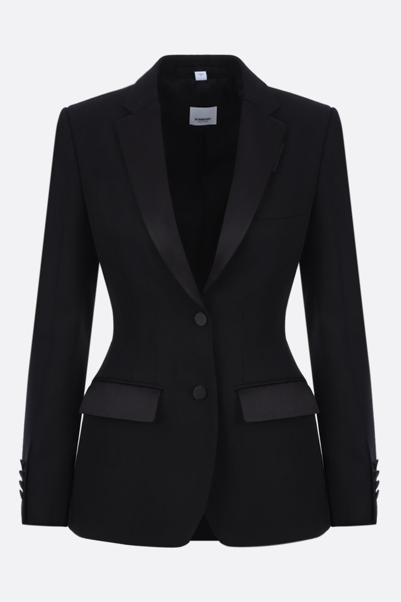 BURBERRY: Otelia single-breasted jacket in wool Color Black_1