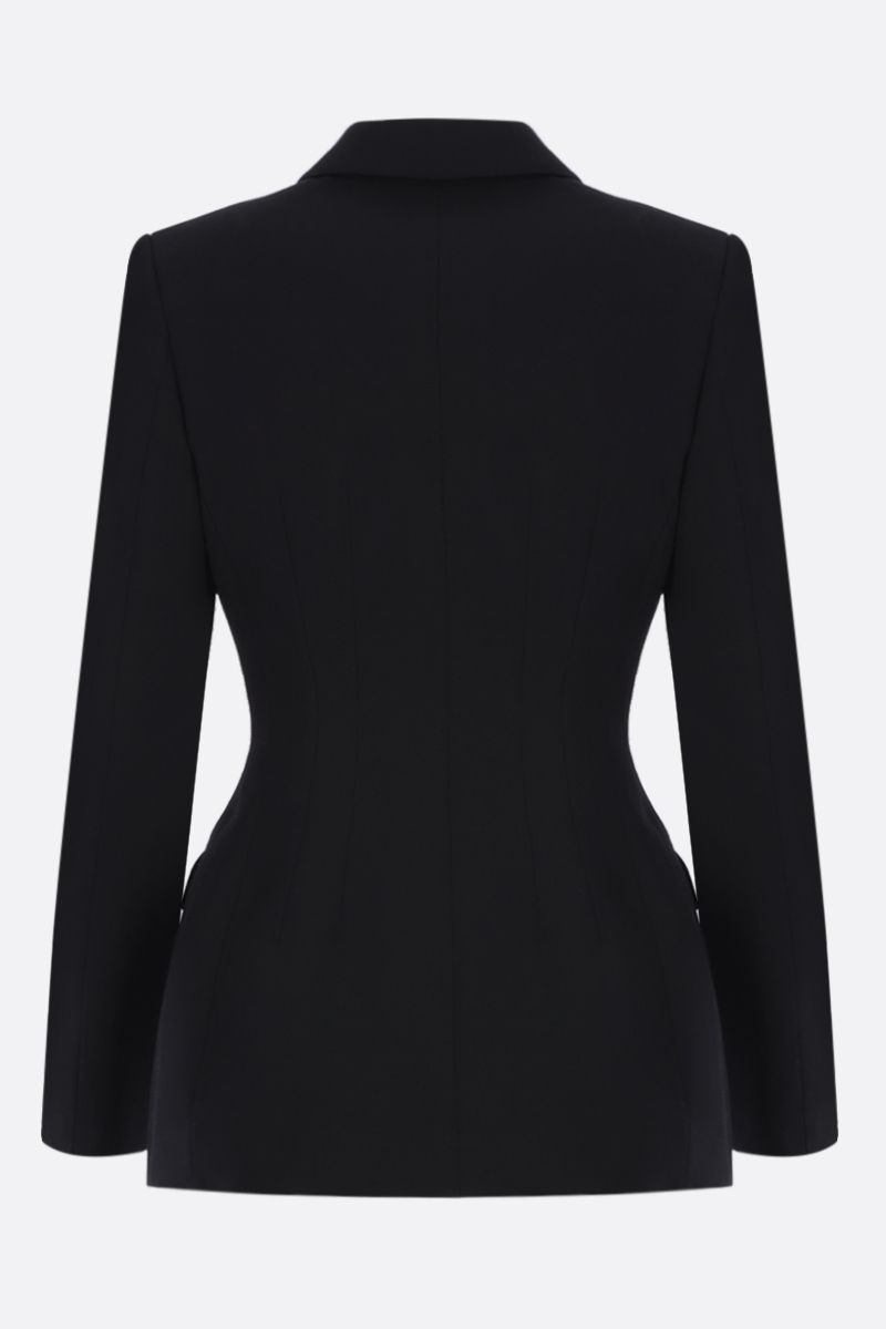 BURBERRY: Otelia single-breasted jacket in wool Color Black_2