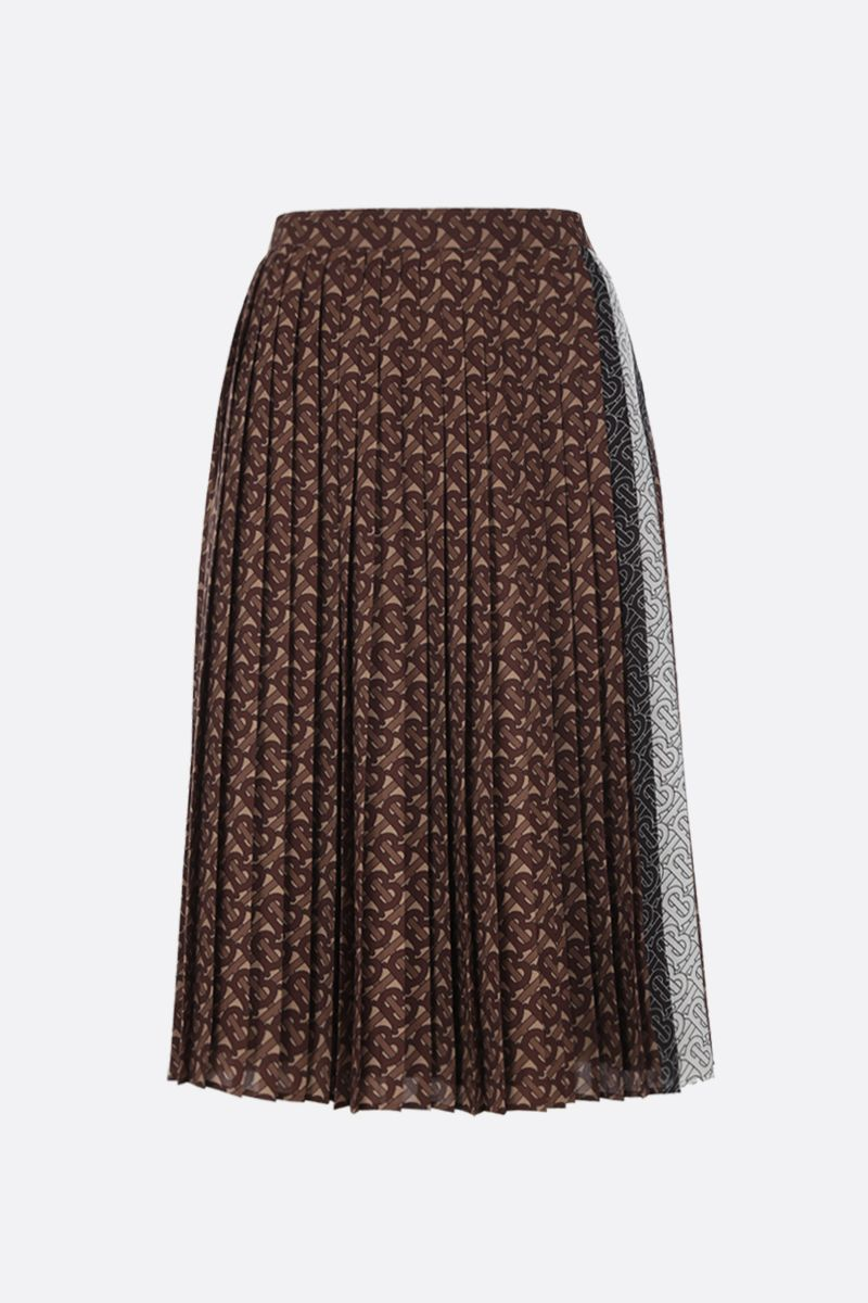 BURBERRY: Marine pleated skirt in crepe Color Black_1