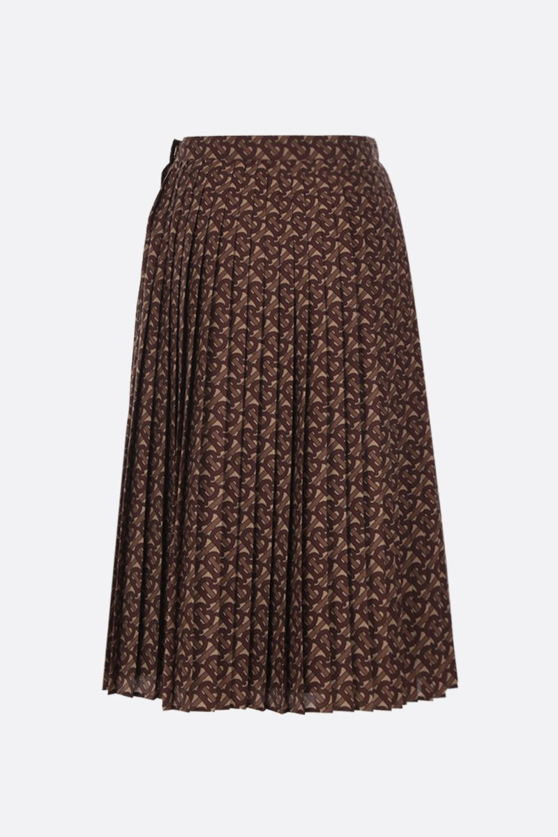 BURBERRY: Marine pleated skirt in crepe Color Black_2