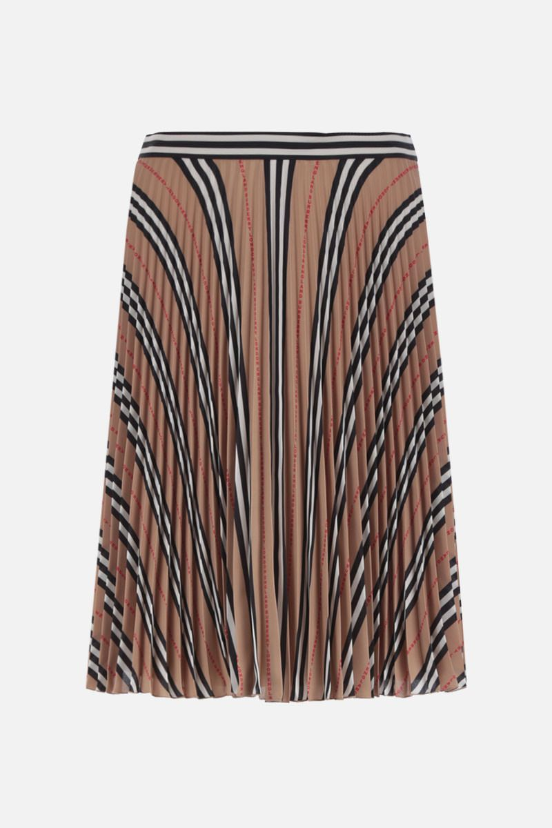 BURBERRY: Rersby crepe pleated skirt_1