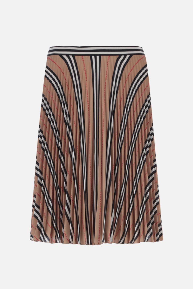 BURBERRY: Rersby crepe pleated skirt_2