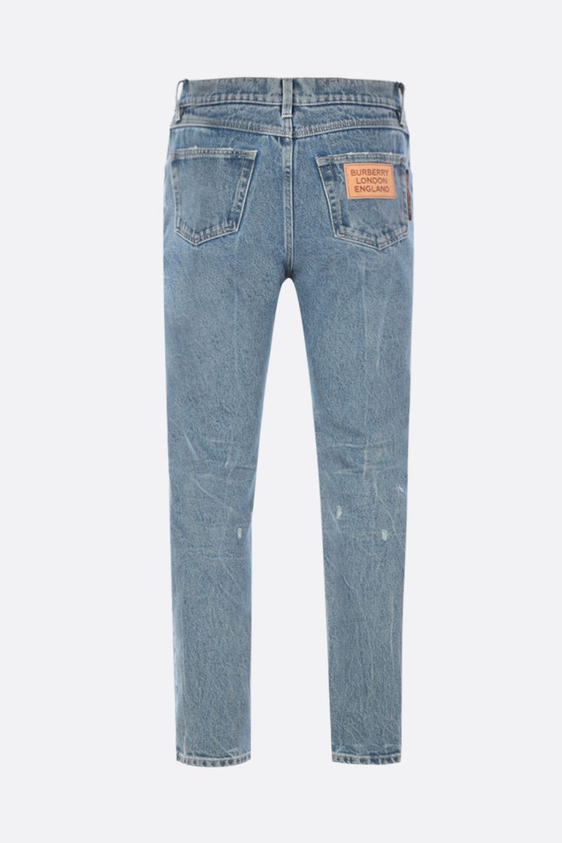 BURBERRY: jeans straight-fit Colore Blu_2
