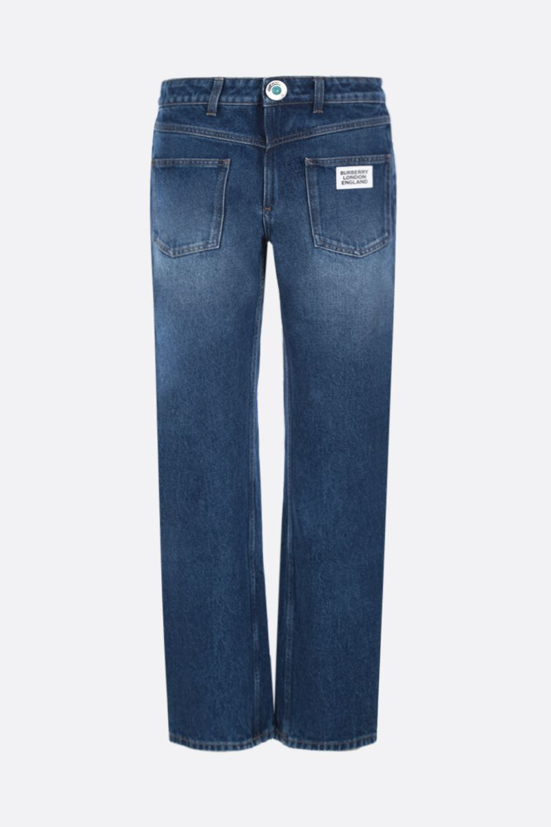 BURBERRY: Monik straight-fit jeans with reconstructed pockets Color Pink_1