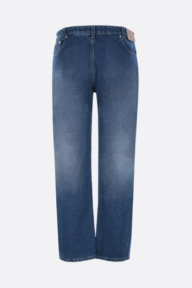 BURBERRY: Monik straight-fit jeans with reconstructed pockets Color Pink_2