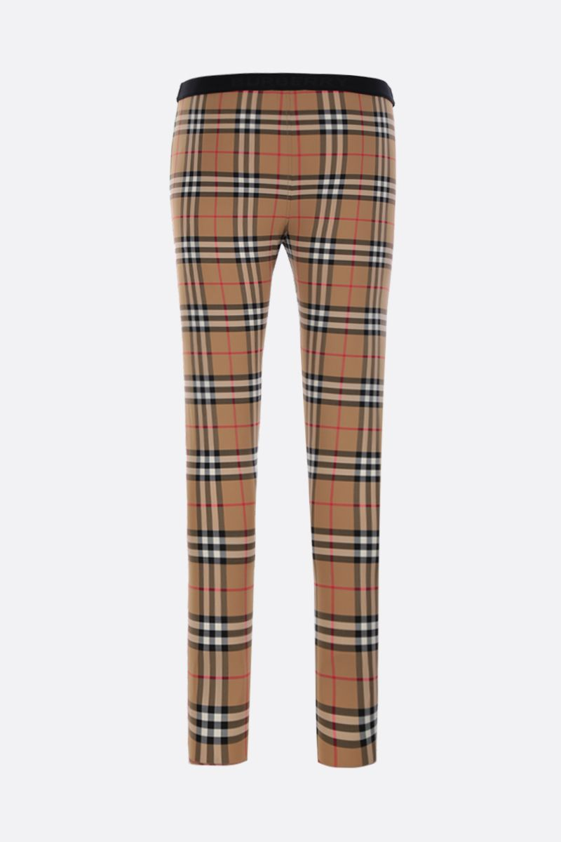 BURBERRY: Belvoir leggings in Vintage check jersey Color Yellow_2