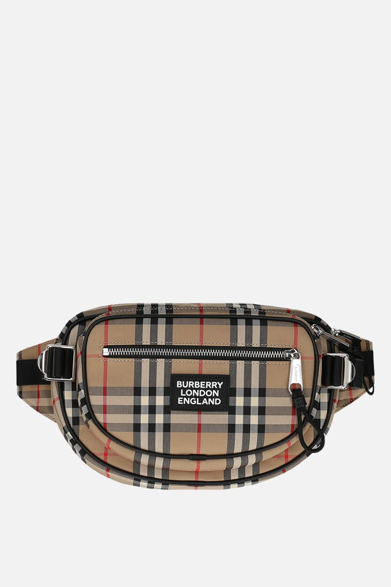 BURBERRY: medium Cannon belt bag in Vintage check canvas_1
