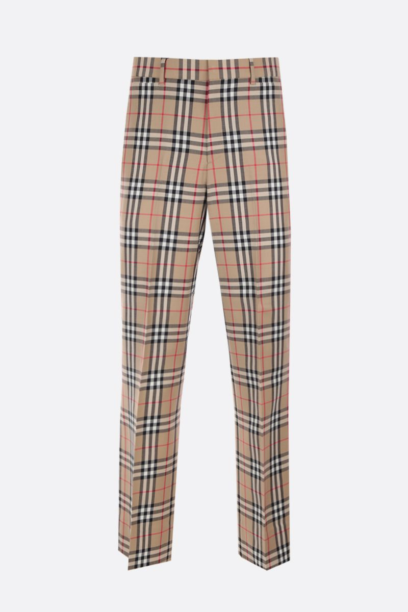 BURBERRY: Vintage check wool mohair tailored pants_1