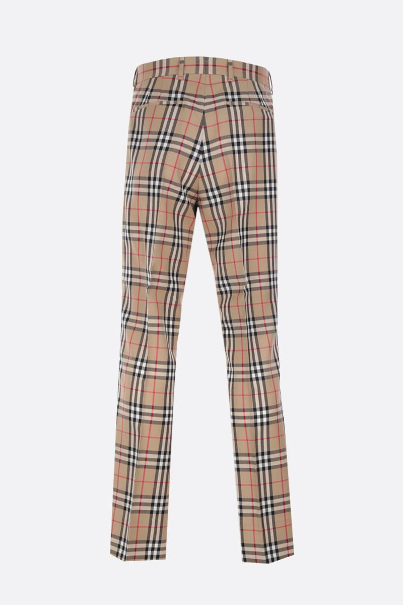 BURBERRY: Vintage check wool mohair tailored pants_2