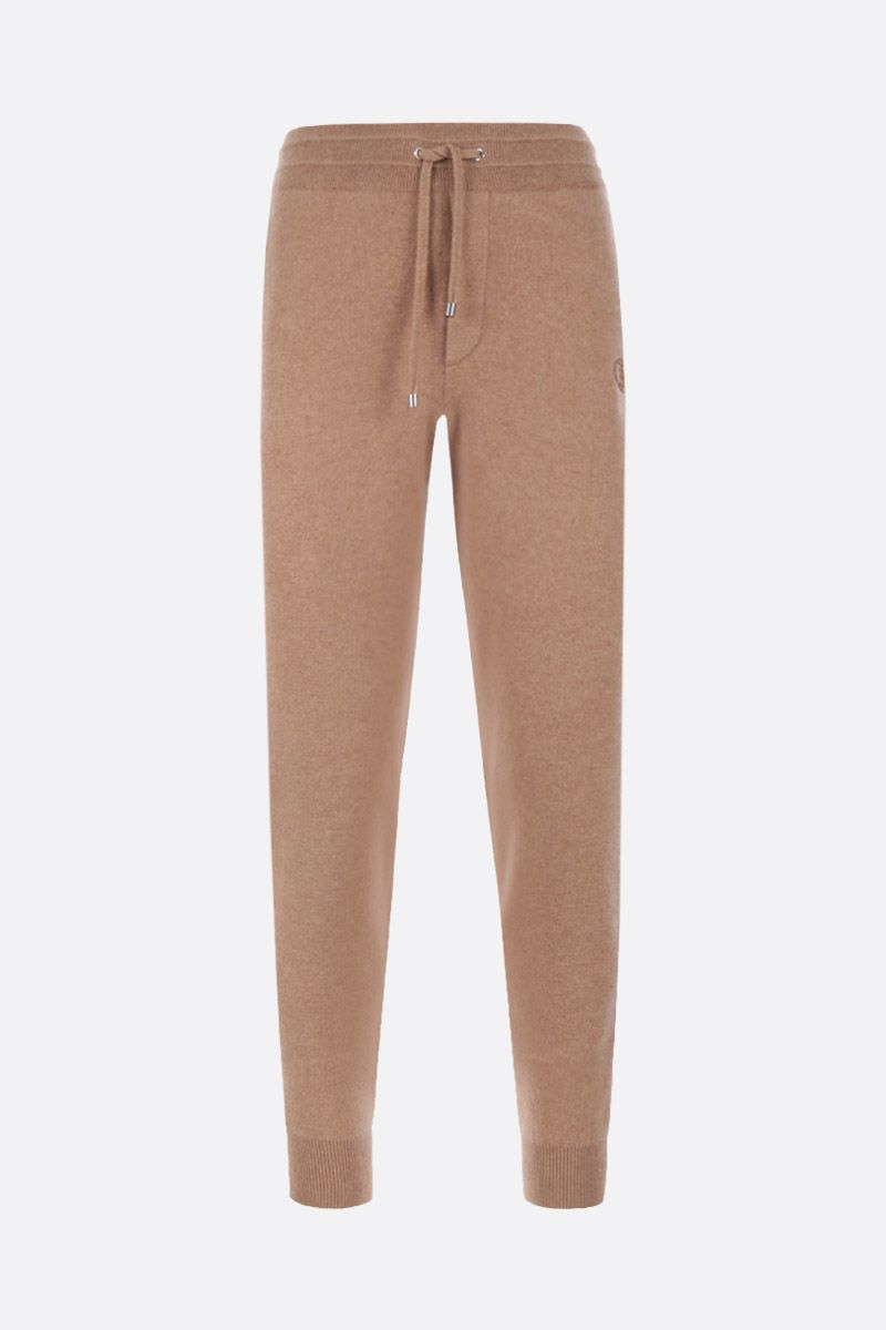 BURBERRY: Hunton jogging pants in cashmere Color Brown_1