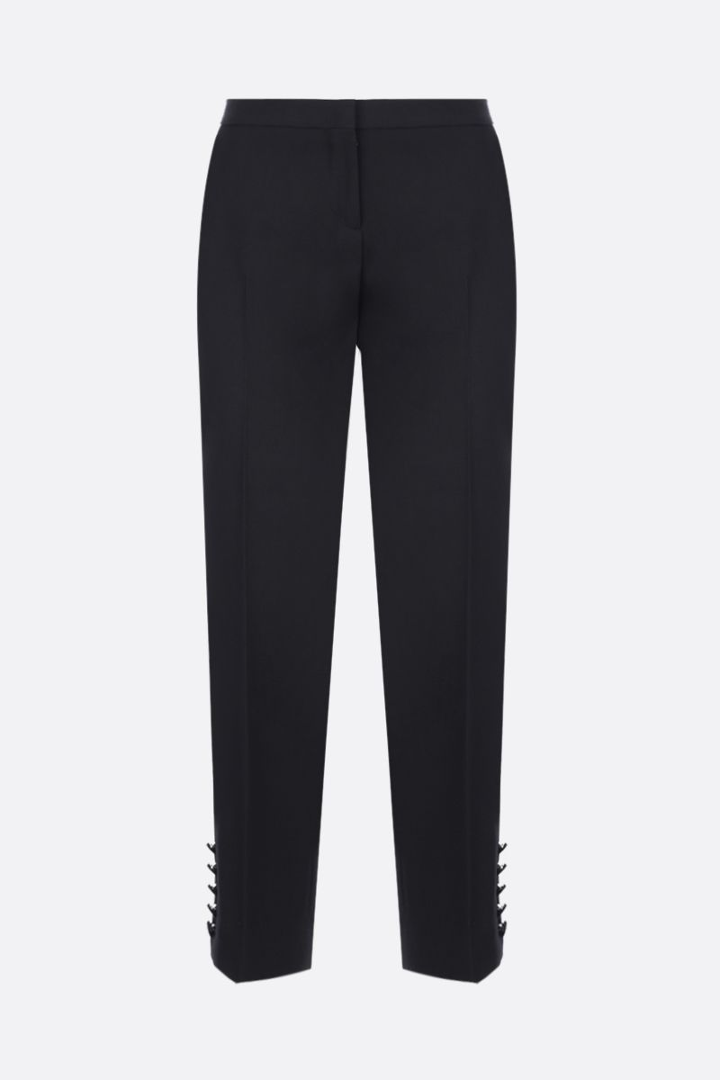 BURBERRY: Hanover straight-fit pants in wool Color Black_1