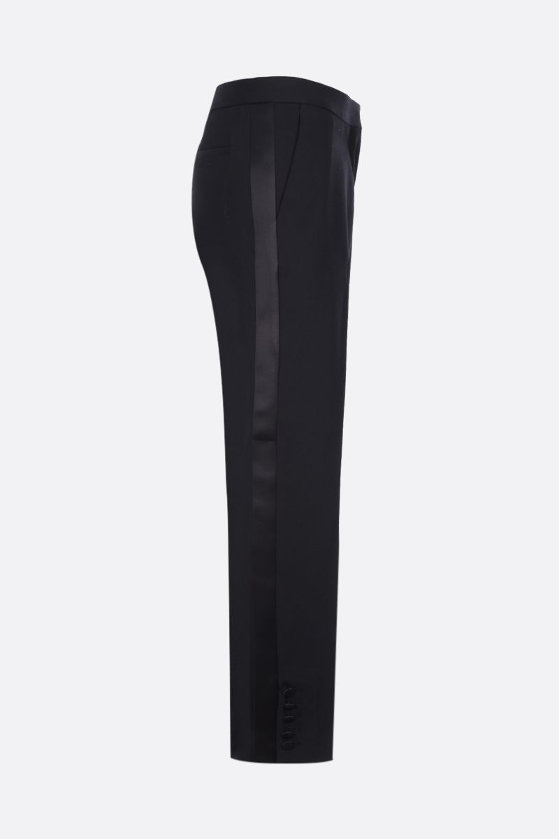 BURBERRY: Hanover straight-fit pants in wool Color Black_3