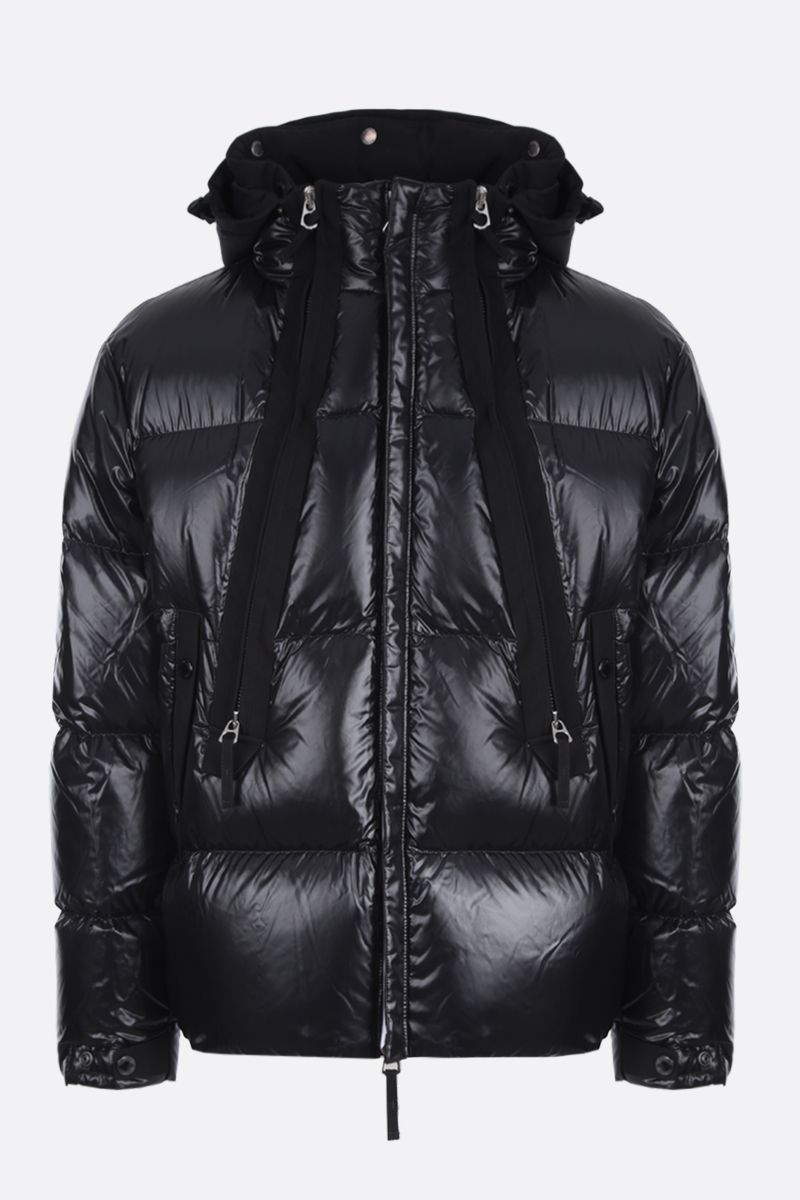 BURBERRY: Desford down jacket in shiny nylon Color Black_1