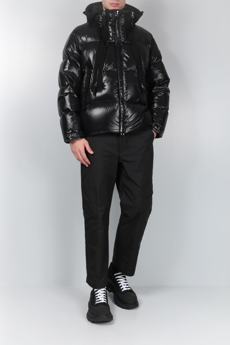 BURBERRY: Desford down jacket in shiny nylon Color Black_2