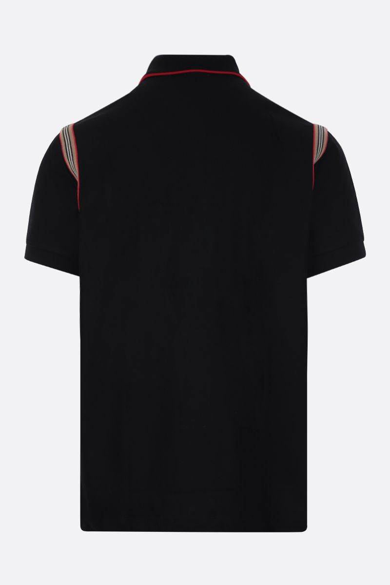 BURBERRY: Kian piquet polo shirt Color Black_2