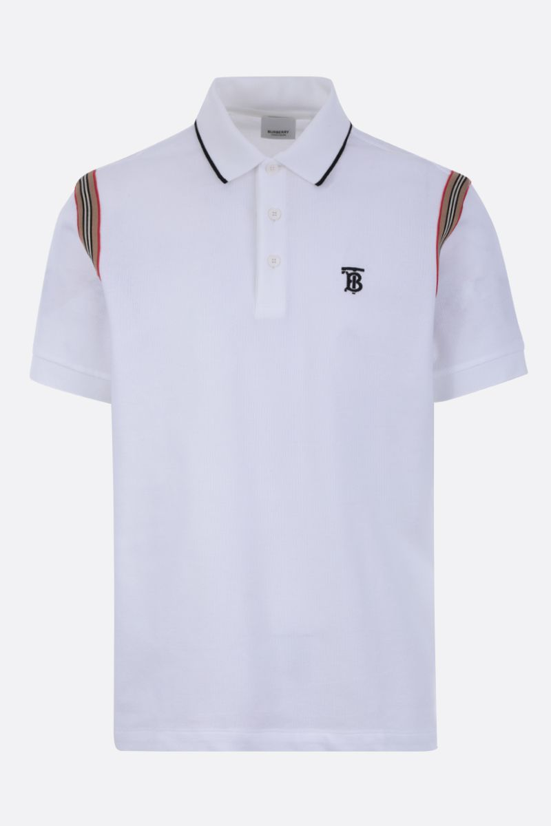 BURBERRY: Kian piquet polo shirt Color White_1