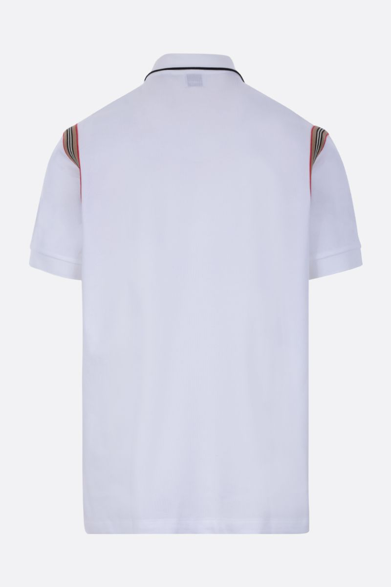 BURBERRY: Kian piquet polo shirt Color White_2