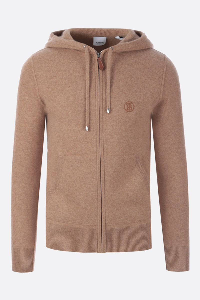 BURBERRY: Lindlay hooded pullover in cashmere Color Brown_1