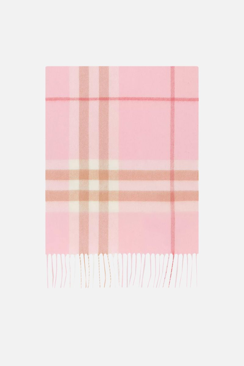 BURBERRY: Giant check cashmere scarf_1