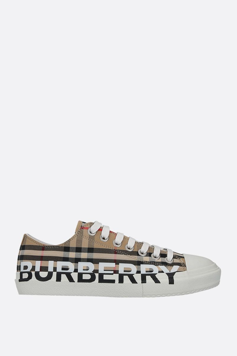 BURBERRY: sneaker Larkhall in canvas Vintage check_1