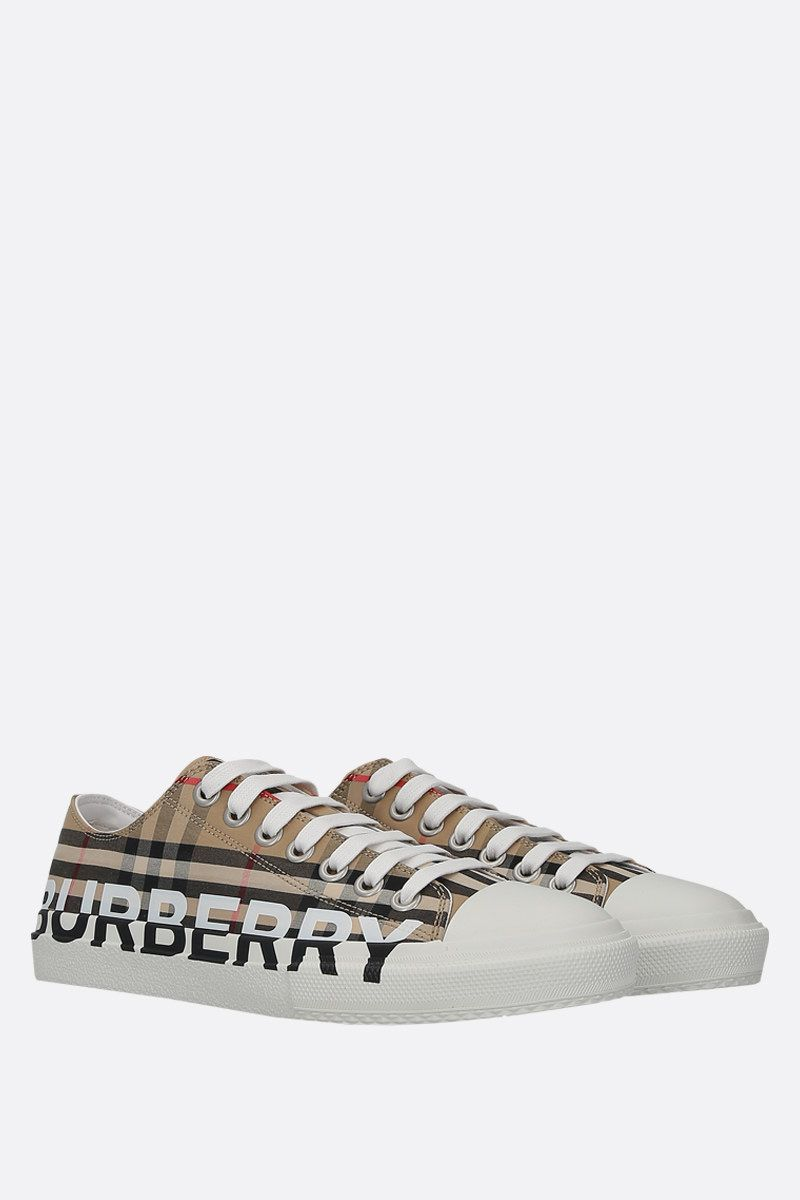BURBERRY: sneaker Larkhall in canvas Vintage check_2