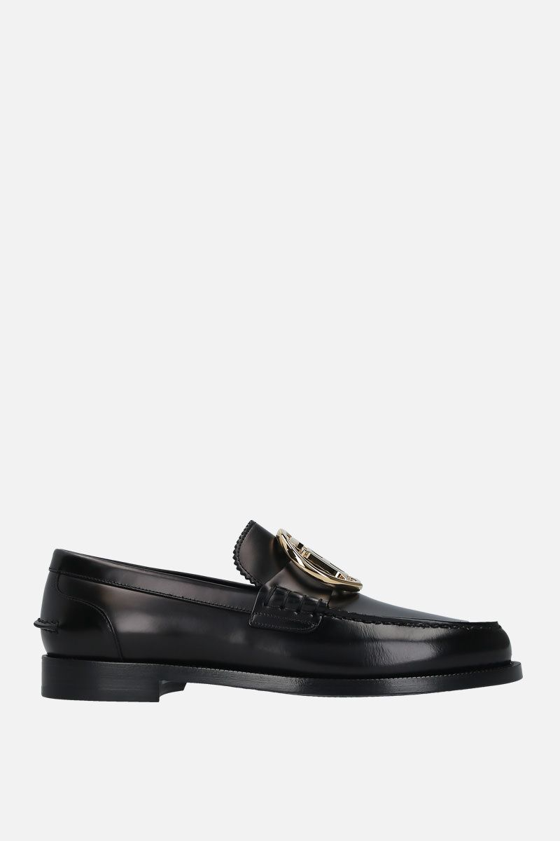 BURBERRY: brushed calf loafers Color Black_1