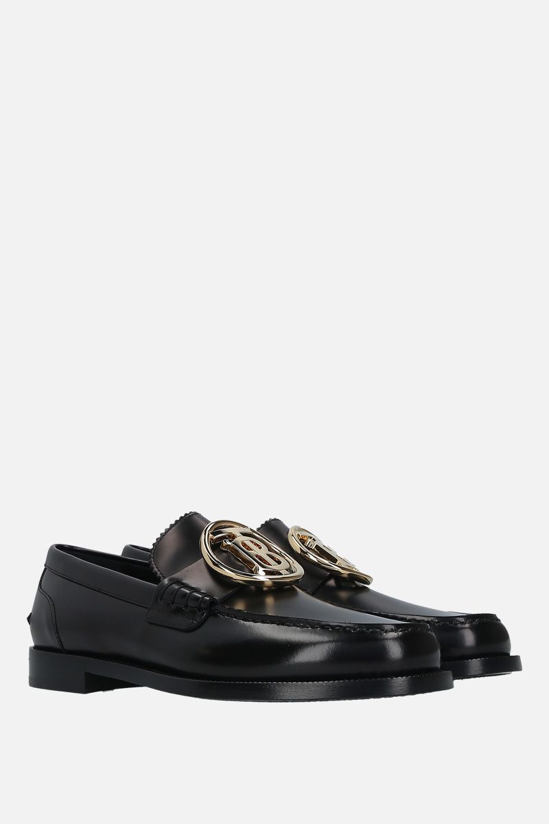 BURBERRY: brushed calf loafers Color Black_2