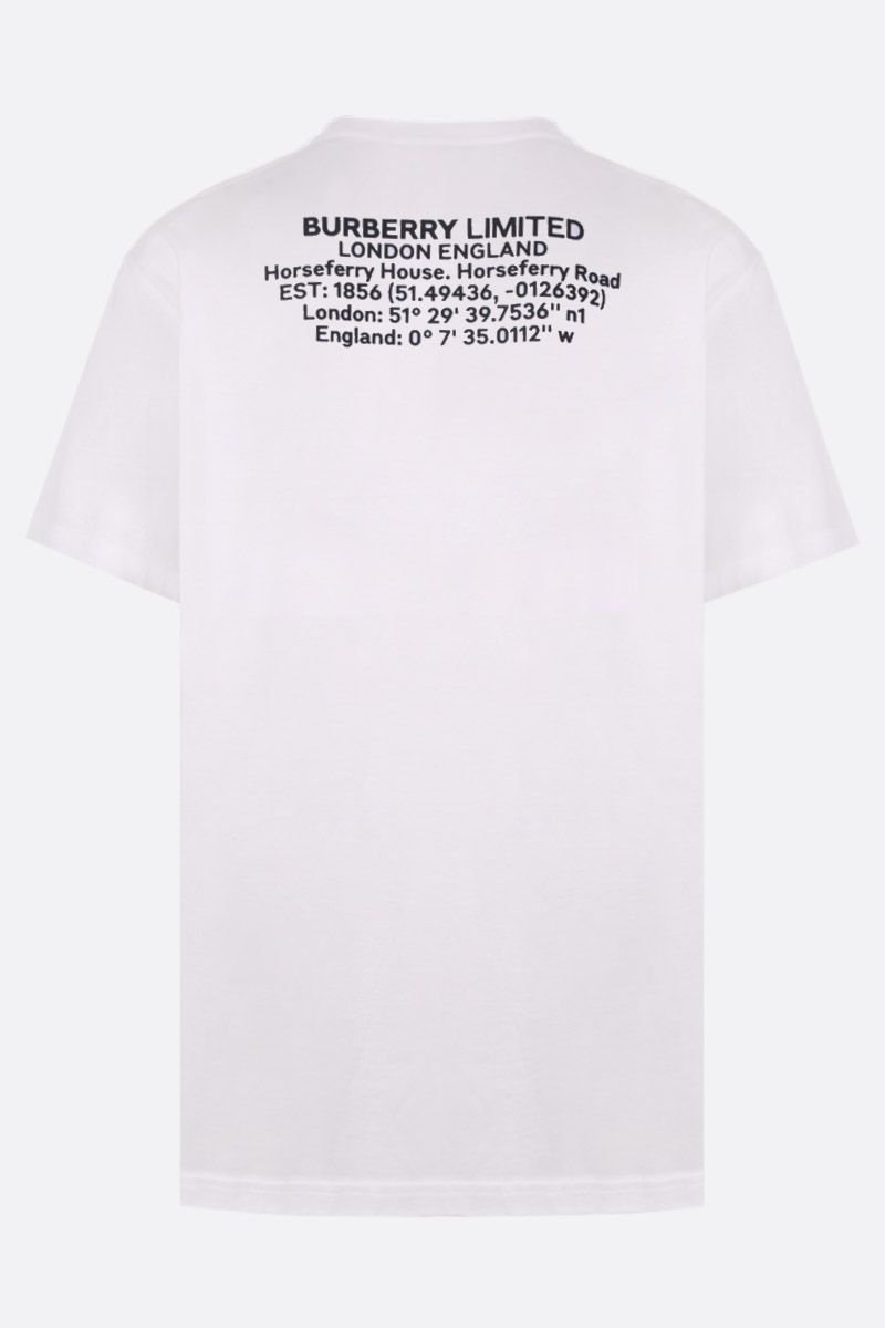BURBERRY: Justin t-shirt in cotton jersey Color White_2