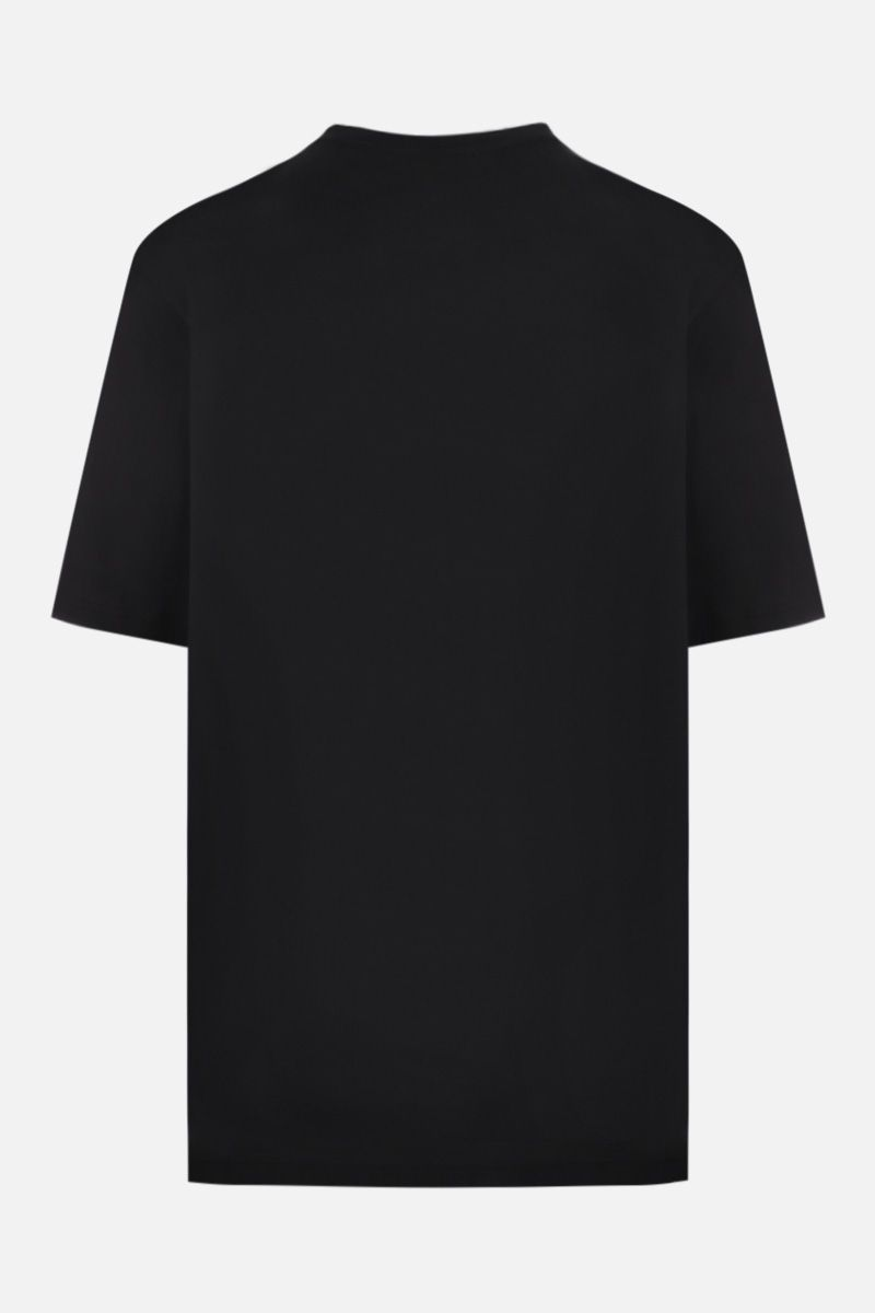 BURBERRY: Carrick cotton oversized t-shirt Color Black_2
