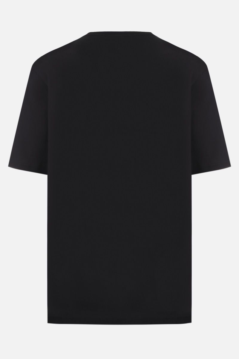 BURBERRY: Letchford cotton oversized t-shirt Color Black_2