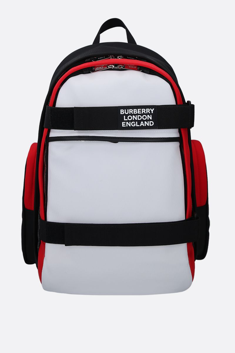 BURBERRY: Nevis large backpack in nylon Color White_1