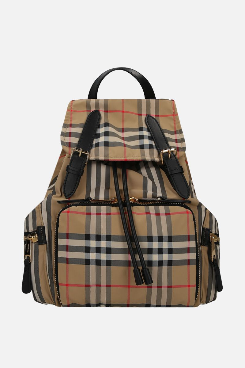 BURBERRY: zaino The Rucksack medio in nylon Vintage check_1