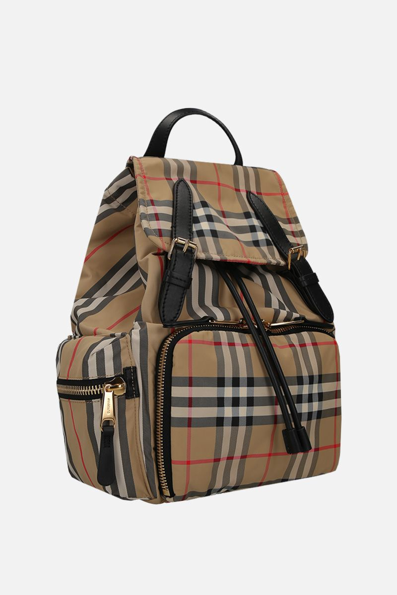 BURBERRY: zaino The Rucksack medio in nylon Vintage check_2