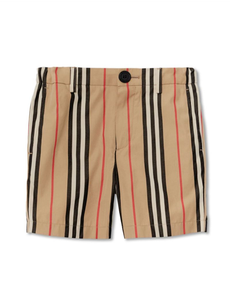 BURBERRY CHILDREN: Icon Stripe cotton shorts_1