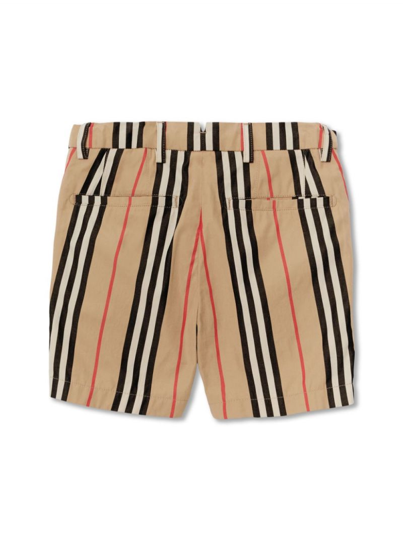 BURBERRY CHILDREN: Icon Stripe cotton shorts_2