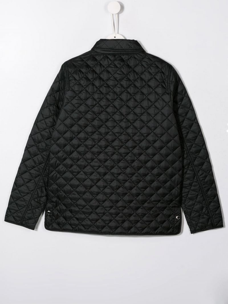 BURBERRY CHILDREN: Brennan quilted jacket in nylon Color Black_2